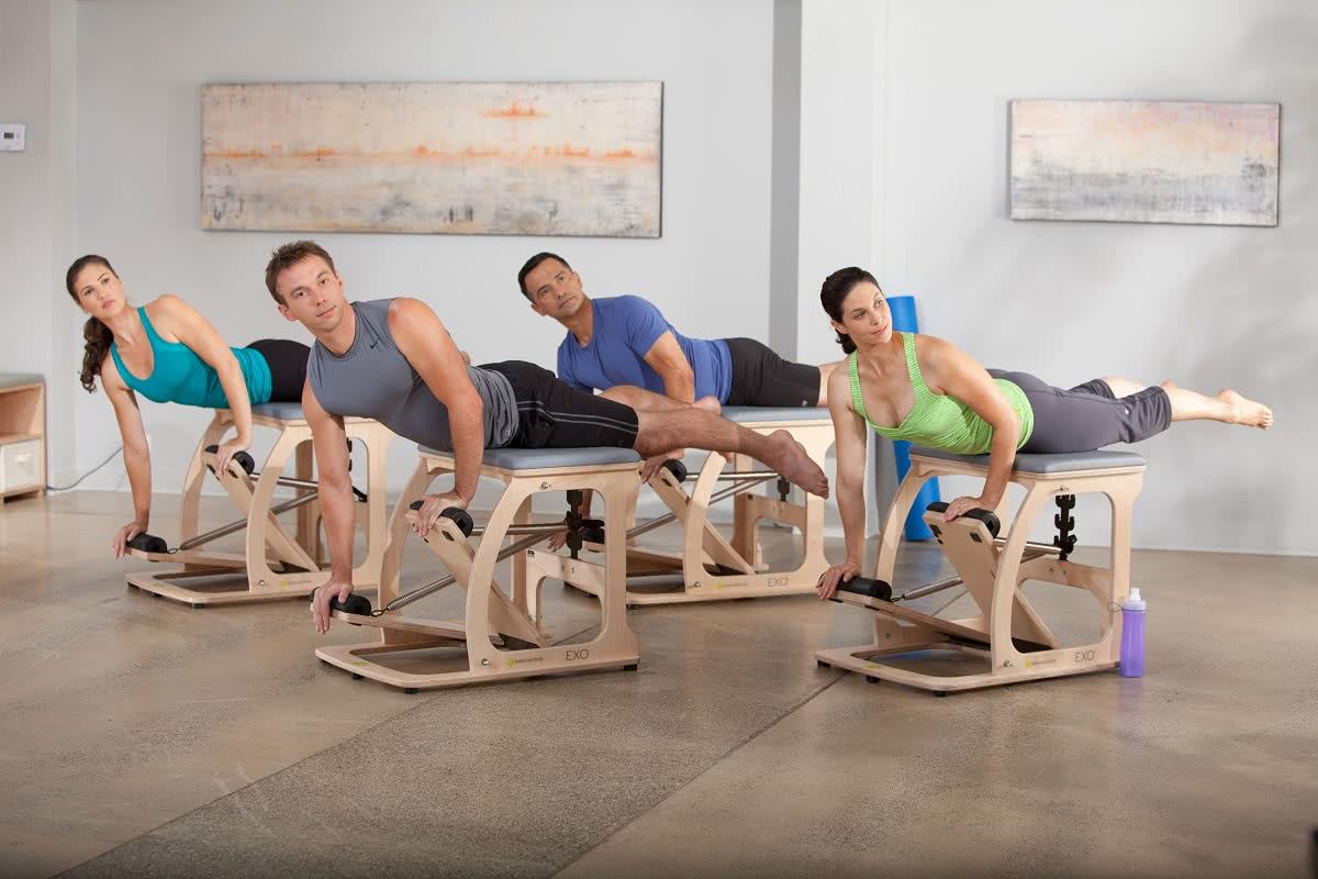 Balanced Body Pilates Exo Chair w użyciu