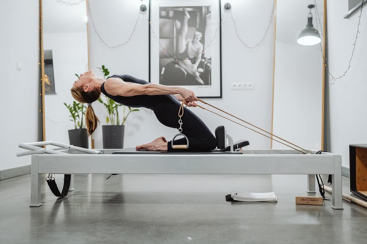 Balanced Body Pilates Contrology Reformer wużyciu